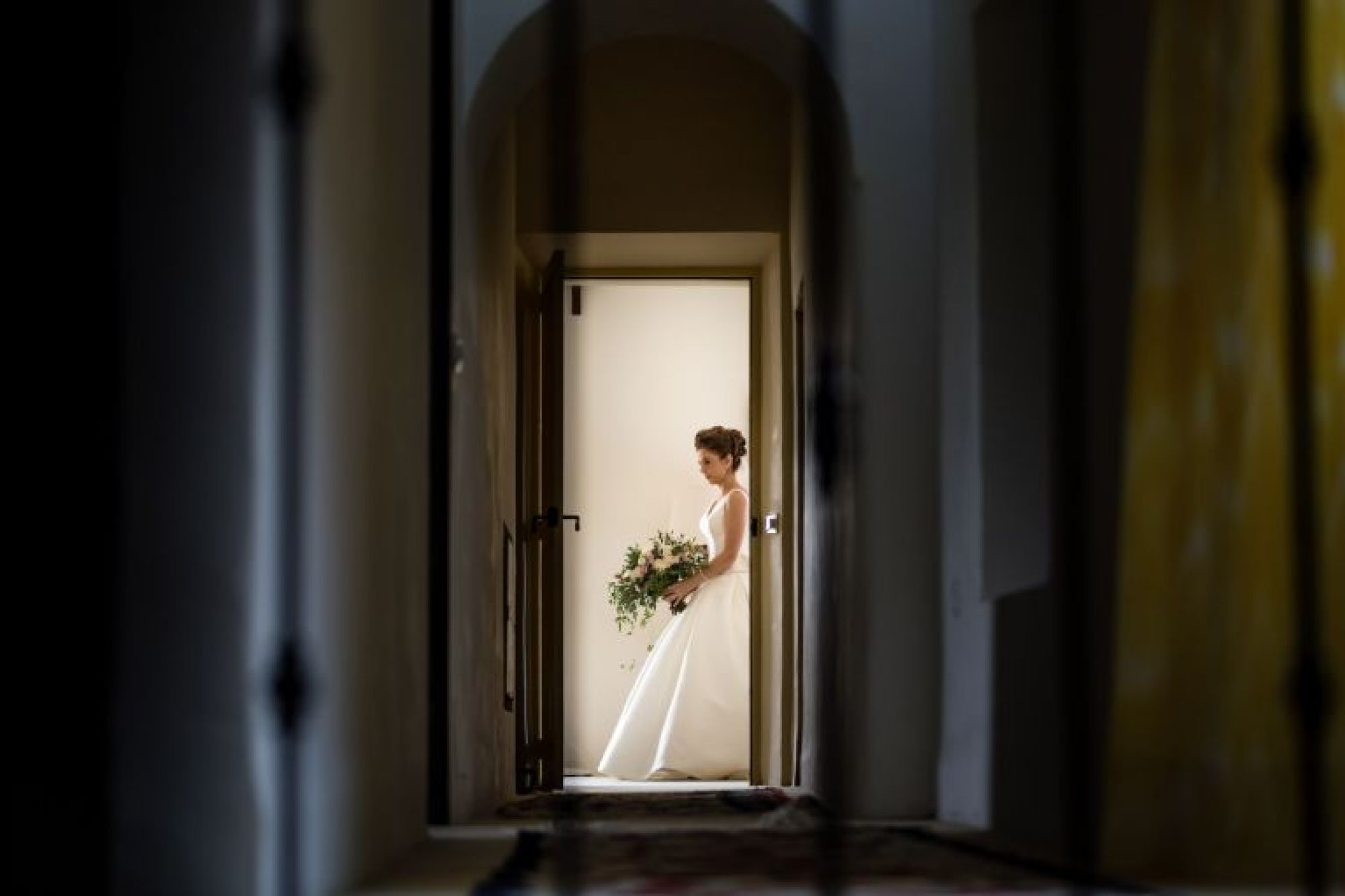 Bride ready to get married at Pedruxella Gran in Mallorca