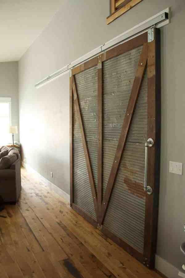 Corrugated Metal Sliding Barn Doors
