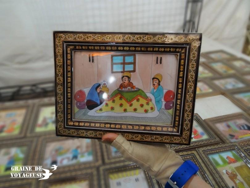 Art Iran dessin peinture marqueterie