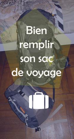 Bien remplir son sac de voyage