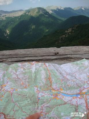 carte montagnes parc abruzzes