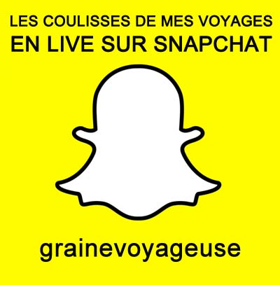 Graine de voyageuse Snapchat