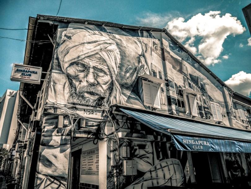 Singapour street art Haji Lane