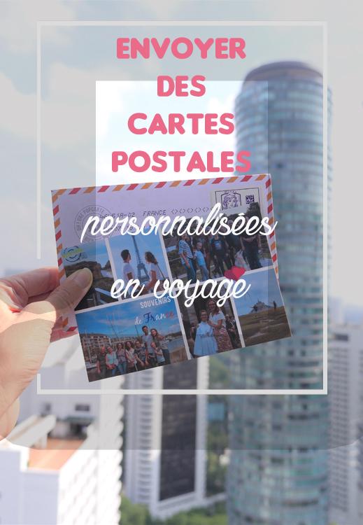 Envoyer carte postale personnalisées en ligne en voyage