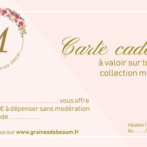 Carte cadeau Graines de Beau M