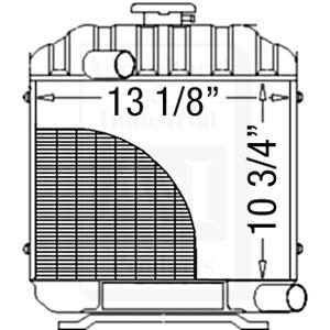 Kubota B7100 Radiator