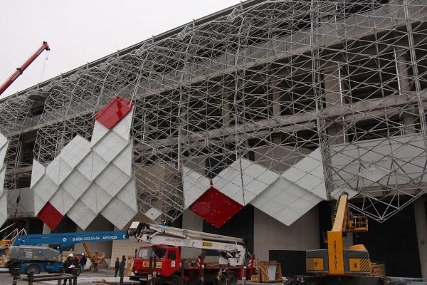 Facade Grid Structure Spartak Stadium - Graitec