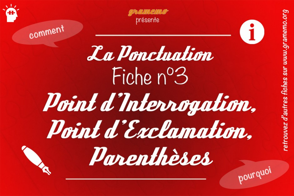 057 Ponctuation Point dInterrogation Exclamation Parentheses
