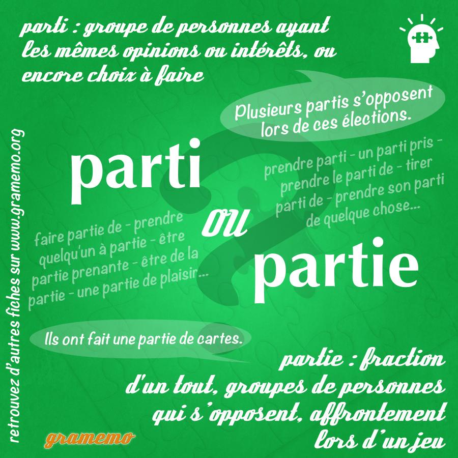 096 Parti ou partie