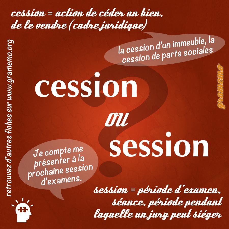 Cession ou session - Gramemo