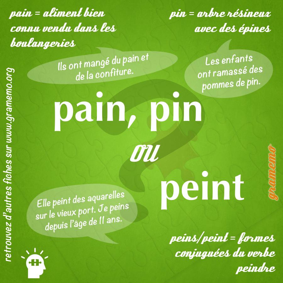Pain pin peins peint Gramemo