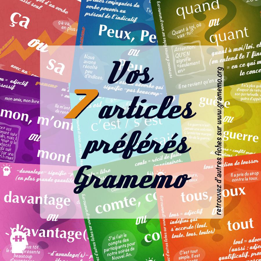 Articles préférés Gramemo