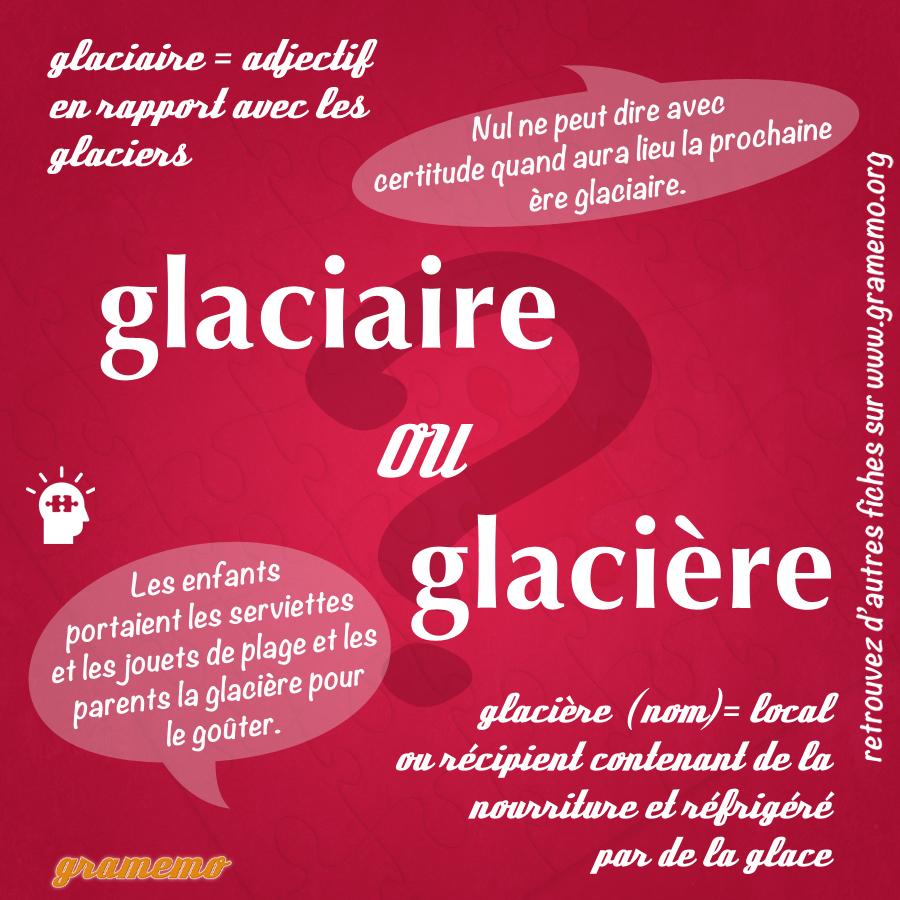Glaciaire ou glacière - Homophones Gramemo