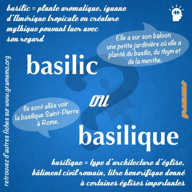 Basilic ou basilique - Homophones Gramemo