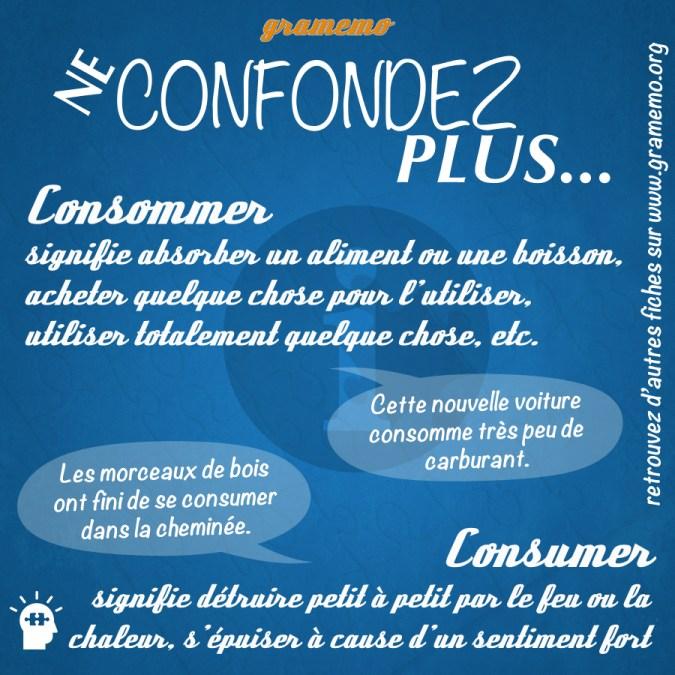 Consommer ou consumer - Homophones Gramemo