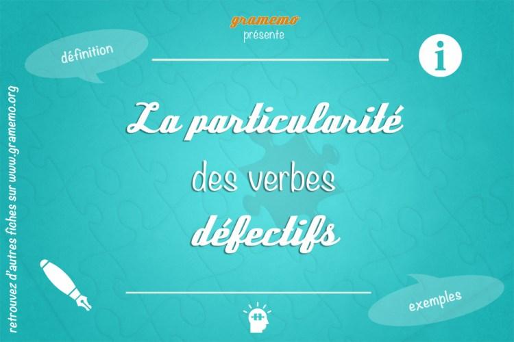 Les verbes défectifs - Gramemo
