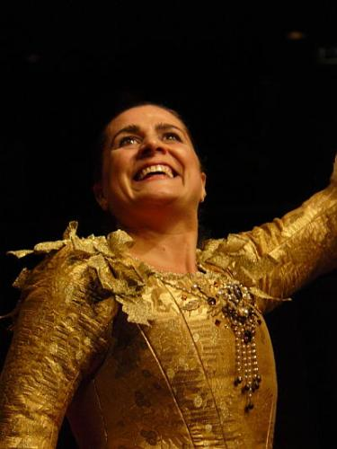 Cecilia Bartoli at the end of a Sacrificium concert