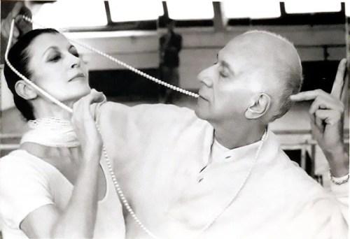Roland Petit rehearsing Chéri with Carla Fracci