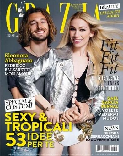 Glamorous couple Eleonora Abbagnato and Federico Balzaretti on one of their many magazine covers