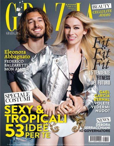 Glamorous couple Eleonora Abbagnato and Federico Balzaretti on one of their many magazine covers