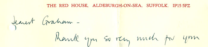 Red House letterhead