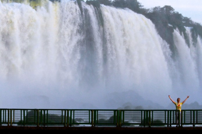 At Iguazu Falls in South America - a truly life changing adventure.