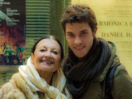 Claudio Coviello with Carla Fracci