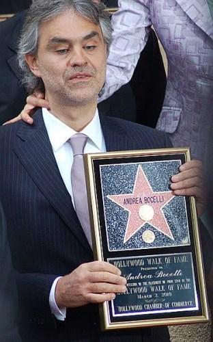 Andrea Bocelli Walk of Fame