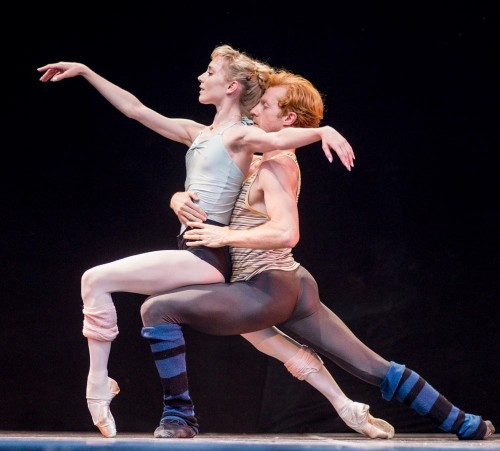Sarah Lamb and Steven McRae rehearse Alastair Marriott's In the Hot­house