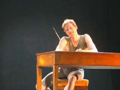 Edward Watson rehearses Manon