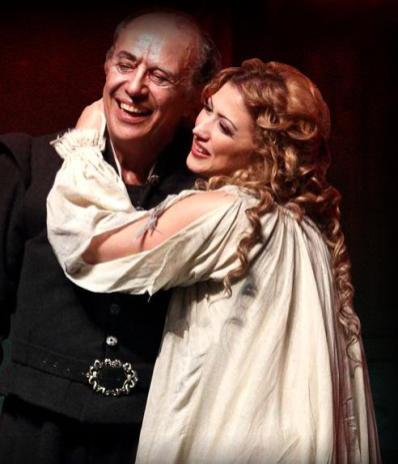 Desirée Rancatore in Rigoletto, Beijing 2011, with Leo Nucci