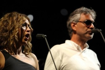 Desirée Rancatore with Andrea Bocelli