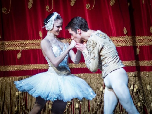 Natalia Osipova and Claudio Coviello after Swan Lake