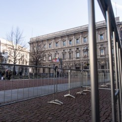 Barriers cordon off Milan's La Scala