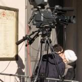 Cameras outside La Scala