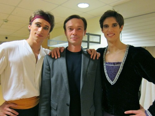 Xander Parish with Mariinsky colleague Filipp Stepin and their coach, Igor Petrov