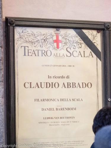 Claudio Abbado Tribute Teatro alla Scala Milan 6