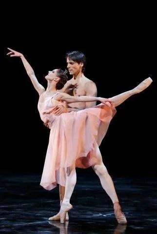Maria Eichwald and Igor Yebra in La rose malade - photo Brescia & Amisano/Teatro alla Scala
