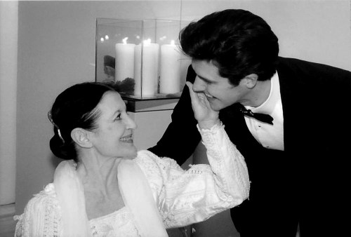 Carla Fracci and Roberto Bolle at the Eni dinner 2