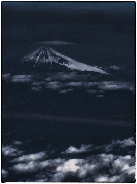 Mount Fuji at night 2014