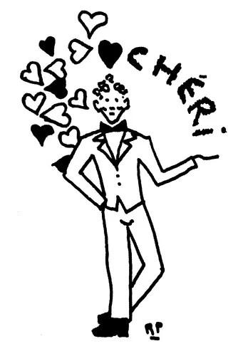 A Roland Petit's sketch for Chéri