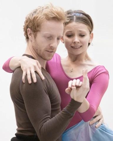 Steven McRae and Evgenia Obraztsova rehearsing Romeo and Juliet