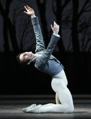 Valentino Zucchetti as Lensky in Onegin - photo by Nigel Norrington, 2013