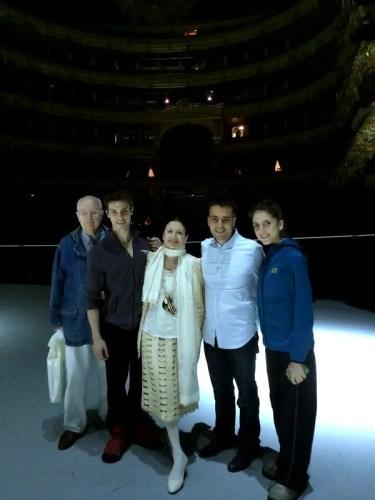 Carla Fracci with Beppe Menegatti, Claudio Coviello, Daniele Cipriani and Vittoria Valerio