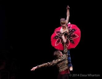 Daria Klimentová and Vadim Muntagirov in rehearsal, Don Quixote, Prague 2014 - photo Dasa Wharton