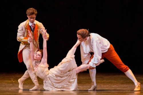 Alexander Campbell debuting as Lescaut with Natalia Osipova as Manon and Christopher Saunders as Monsieur G.M., Royal Ballet at the Bolshoi Theatre, 2014