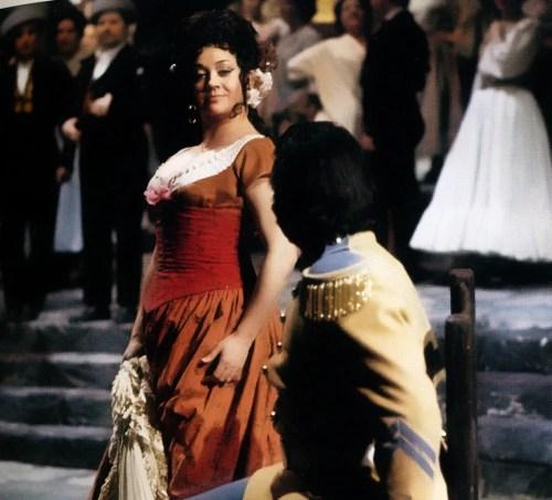 Fiorenza Cossotto in Carmen with Giuseppe di Stefano, La Scala 1972