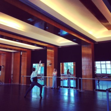 My sister Maria Sascha rehearsing me for Paquita