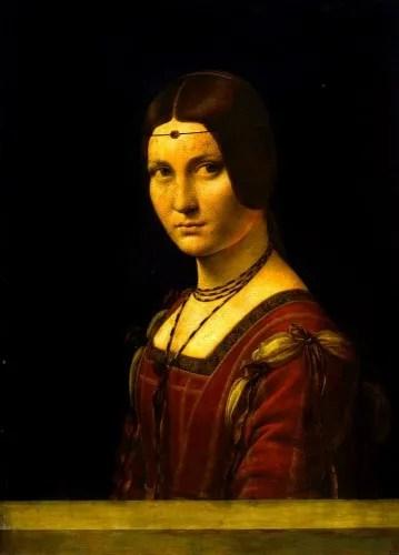 La Belle Ferronière by Leonardo da Vinci