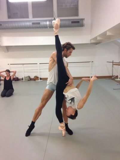 James Whiteside rehearsing Everything Doesn't Happen At Once with Isabella Boylston in Paris _2014